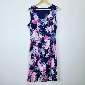 SUZY SHIER | NWT Deep Blue Pink Floral Dress XL